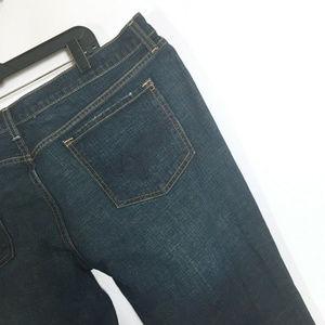 Mossimo Skinny Slim Distressed Darker Jeans 18